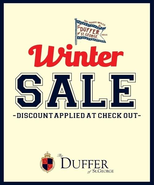 【DUFFER】2015 FALL/WINTER SALE 開催のお知らせ