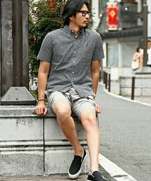 CHECK SHIRT & GRAMICCI SHORTS SNAP