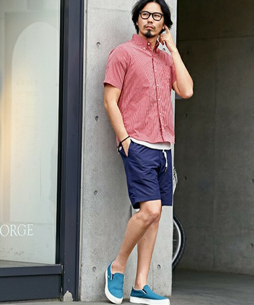 COOL MAX CHECK SHIRT & GRAMICCI SHORTS SNAP