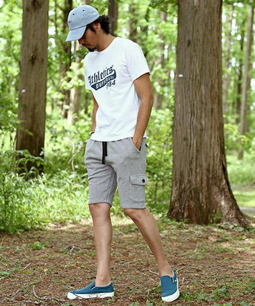 """ATHLETICS 1984″TEE & SWEAT CARGO SHORTS SNAP"