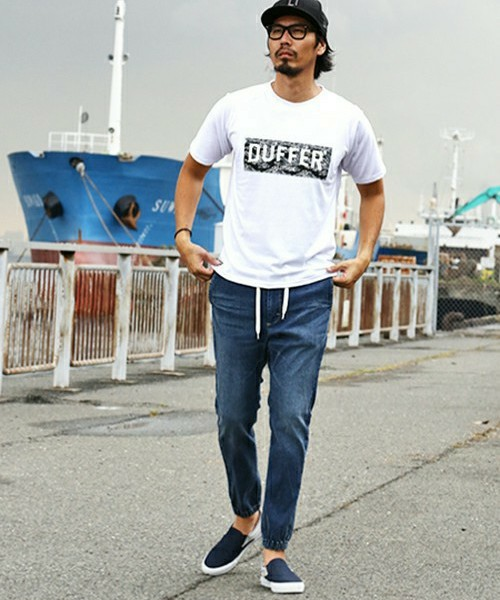 BOX LOGO TEE &  LEE×DUFFER JOGGER PANTS SNAP
