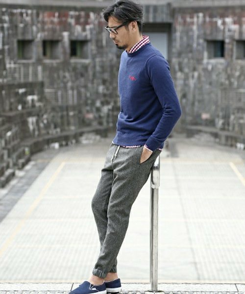 HIGH GAUGE KNIT & JOG PANTS SNAP