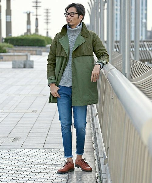 FAKE LAYERED COAT SNAP