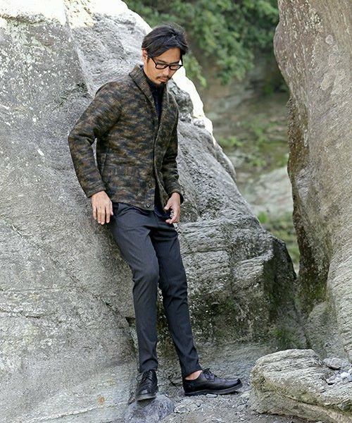SHAWL COLLAR CARDIGAN & TAPERED TROUSERS SNAP