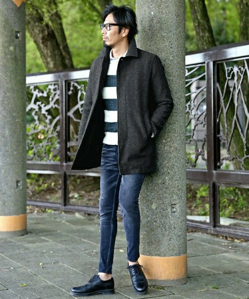 SOUTIEN COLLAR COAT SNAP