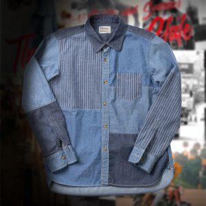 INDIGO PATCHWORK SHIRT:インディゴパッチワークシャツ
