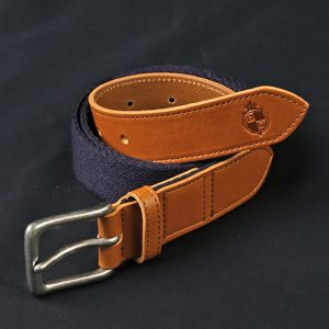 LEATHER×CANVAS COMBINATION BELT:レザーベルト