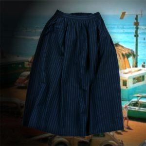 INDIGO STRIPE SKIRT:ストライプスカート