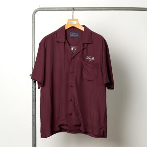 classicsnew EMBROIDERY OPEN COLLAR RAYON S/SL SHIRT:オープンカラー半袖シャツ