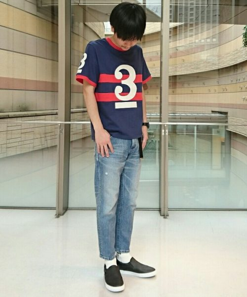 classicsnew NUMBERING BORDER-TEE