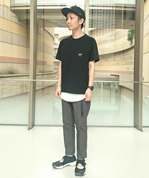 BLACK LABEL ZIP POCKET SIDE MESH TEE