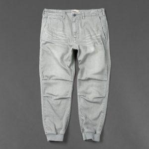 USED LIKE CROPPED RIB PANTS:リブパンツ