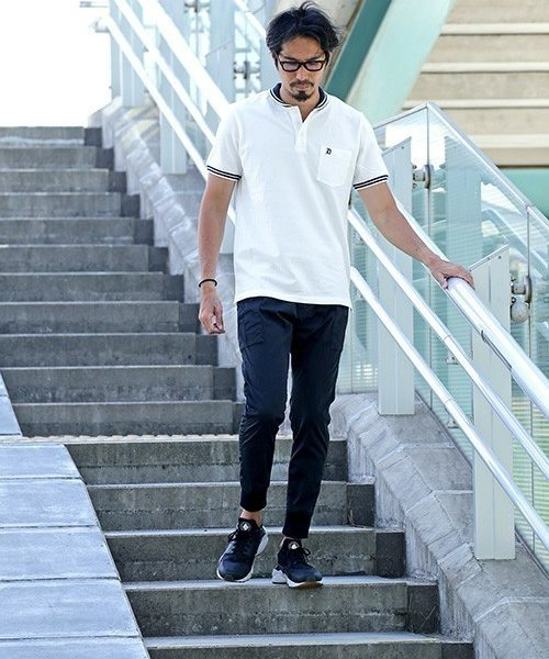 """Centaurus"" RIB COLLAR POLO SHIRT SNAP"