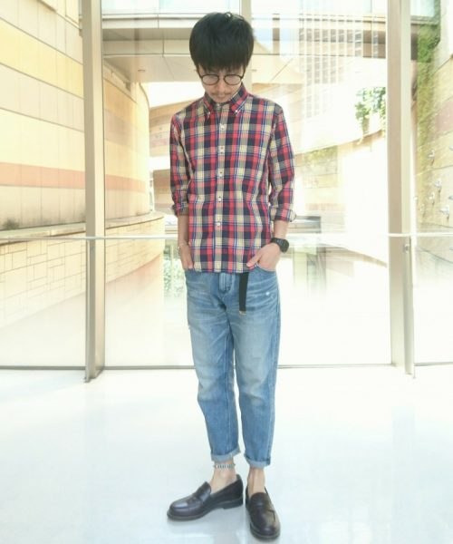 MADRAS CHECK B.D SHIRT