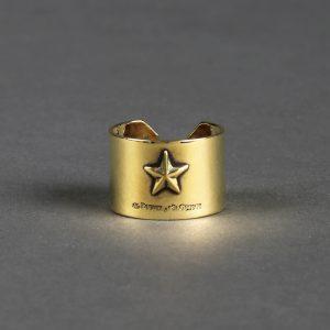 STAR RING:ハンドメイド スターモティーフリング