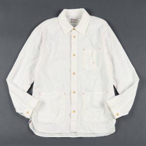 JAPANESE-MADE CHAMBRAY SHIRT:岡山産 シャンブレーカバーオールシャツアウター