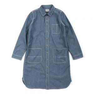 CHAMBRAY SHIRT DRESS:シャンブレーシャツワンピース