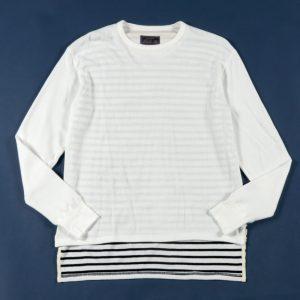 classicsnew HONEYCOMB WAFFLE BACK BORDER L/S TEE:ワッフルボーダーTシャツ