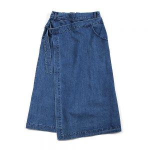 DENIM WRAP SKIRT:デニムラップスカート