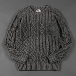 CABLE CREW NECK KNIT:ケーブルニット