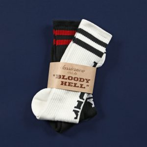 "classicsnew ""BLOODY HELL"" HIGH SOCKS:ハイソックス"