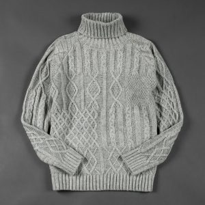 CABLE TURTLE NECK KNIT:ケーブルタートルネックニット