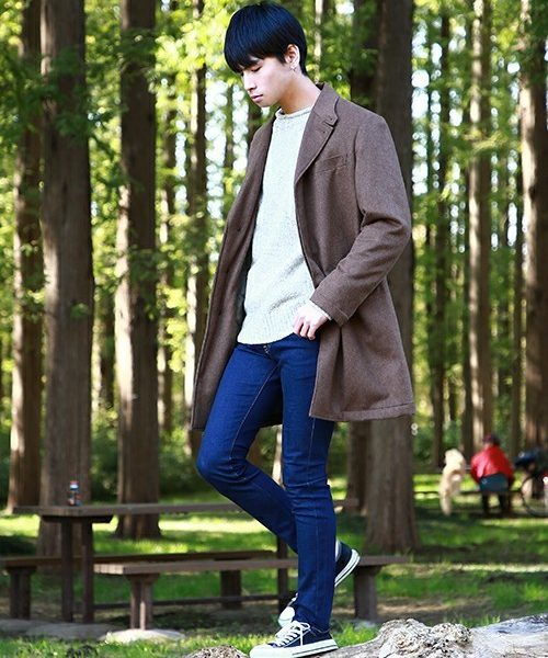 SOLOTEX WOOL CHESTERFIELD COAT SNAP