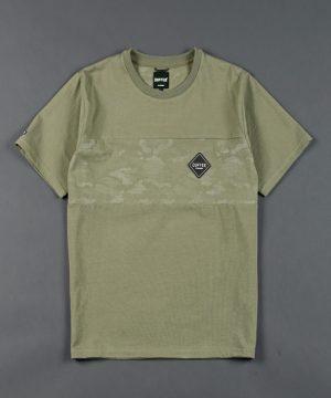 BLACK LABEL CAMO SWITCHING TEE:速乾 カモフラージュ柄切替えTシャツ