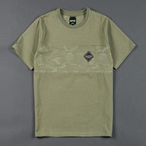BLACK LABEL CAMO SWITCHING TEE:吸湿速乾 カモフラージュ柄切替えTシャツ