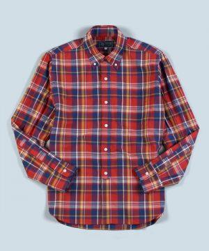TYPEWRITER MADRAS CHECK B.D SHIRT:コンパクト糸 マドラスチェックシャツ