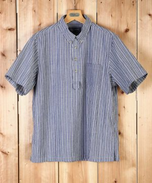 Marco's Heritage OVER HEAD S/S B.D SHIRT:ストライプシャツ
