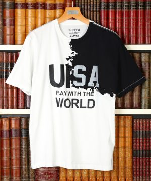DUFFER JAPAN SLOGAN BONDING OPAL UK/USA TEE:ボンディングTシャツ