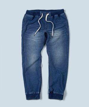 INDIGO PONTE JOGGER PANTS:インディゴジョガーパンツ