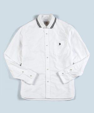 RIB COLLAR SHIRT:ポロ襟 オックスフォードシャツ