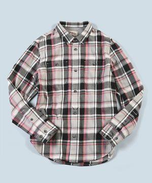 C/L TWILL CHECK SHIRT:コットンリネン ツイルチェックシャツ