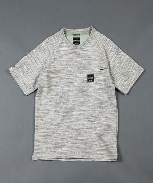 BLACK LABEL SLAB BORDER TEE:ヨリ杢ミニ裏毛 スラブボーダーTシャツ