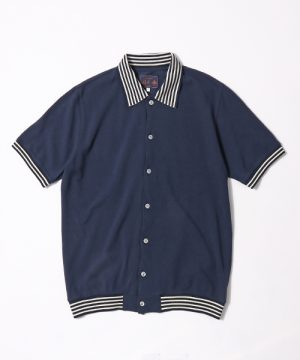classicsnew FULL OPEN SEED STITCH POLO:ポロカーディガン