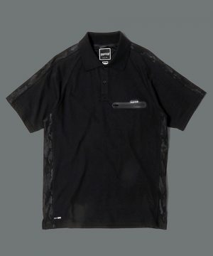 BLACK LABEL CAMO LINE POLO:CVC天竺 カモフラージュ切替え ポロシャツ