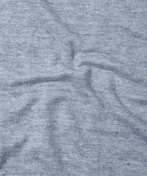 FRENCH LINEN V-NECK SWEATER:フレンチリネンニット
