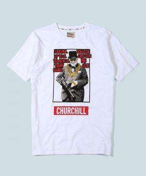 "POLITICAL LEADER PARODY TEE ""CHURCHILL"":ウィンストン・チャーチル パロディTシャツ"