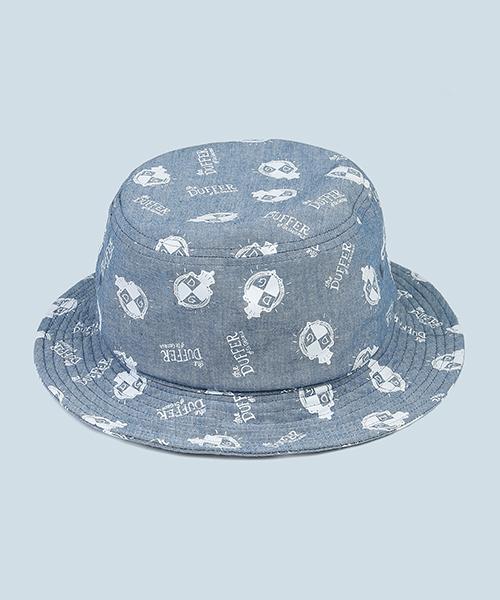SHO WATANABE×DUFFER BUCKET HAT:ショウ ワタナベコラボ 総柄ダンガリーバケットハット