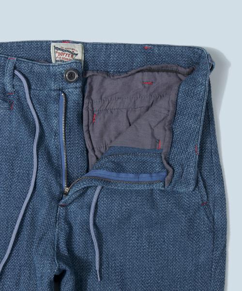 NDIGO HERRINGBONE CROPPED PANTS:インディゴクロップドパンツ