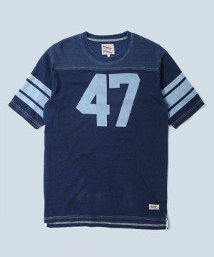 FOOTBALL TEE:インディゴ/ピグメント フットボールTシャツ