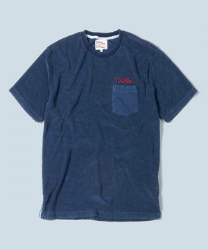 INDIGO PILE TEE:インディゴ パイルTシャツ