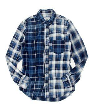 INDIGO LABEL CRAZY NEL CHECK SHIRT:インディゴレーベル クレイジーネルチェックシャツ