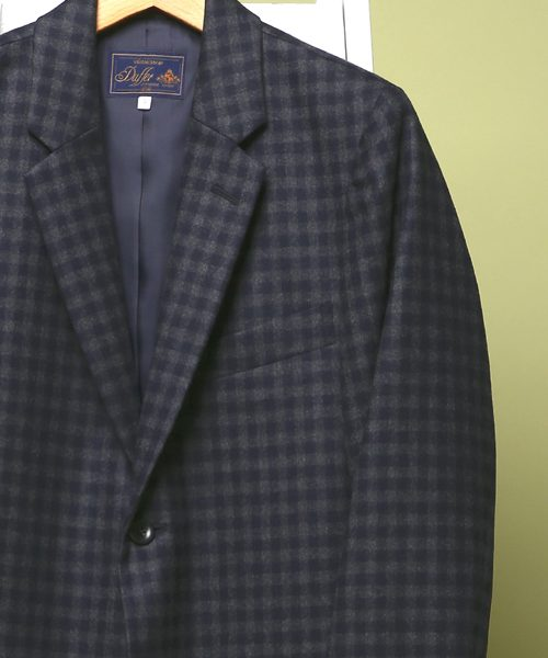 classicsnew WOOL CHECK LOAFERS JACKET: ウールチェックジャケット
