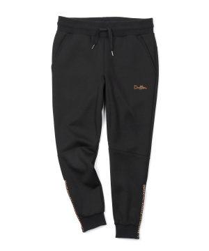 PATTERN ZIP DOUBLE-KNIT PANTS:裾ジップ仕様 ダンボールニット スキニージョガーパンツ
