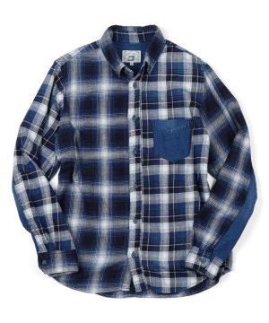 INDIGO LABEL CRAZY CHECK SHIRT:インディゴ クレイジーチェックシャツ