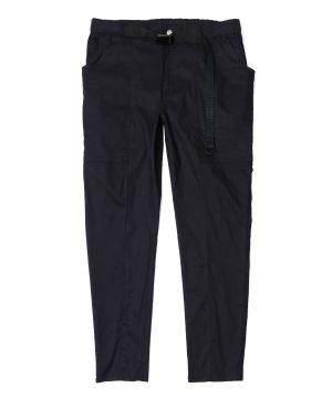 LINEN BLEND CARGO PANTS:麻混ストレッチ スキニーカーゴパンツ