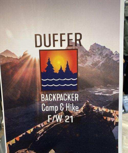21AW DUFFER BACKPACKER Camp&Hike